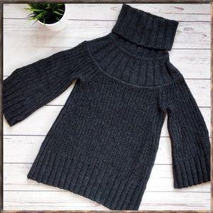 DIANE VON FURSTENBERG Grey Chunky Wool Sweater S